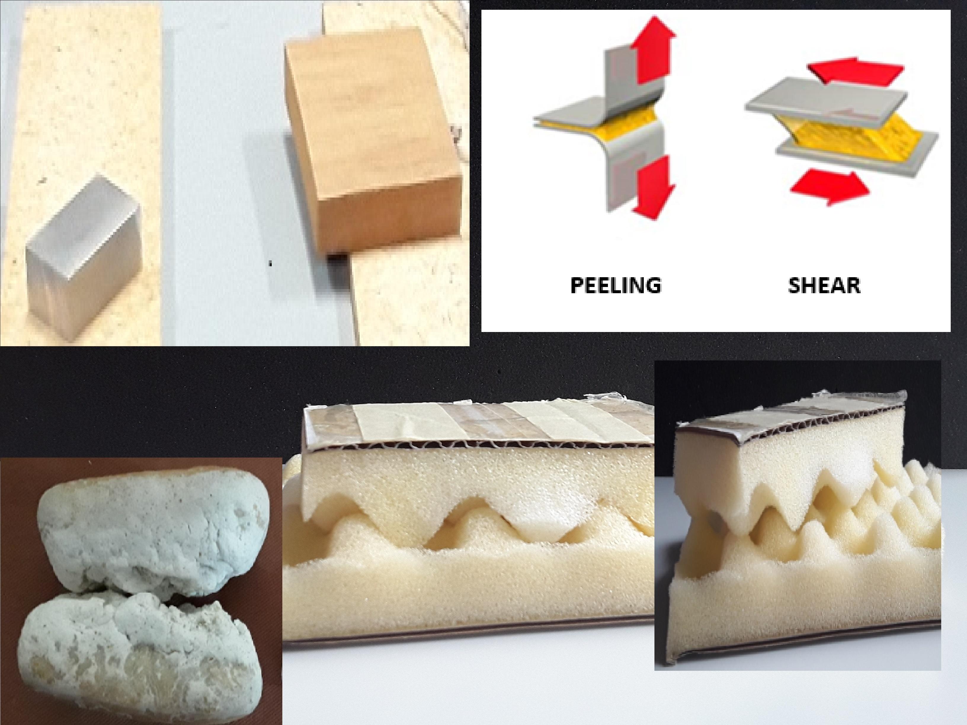 Adesione macroscopica su diversi materiali e superfici di contatto fra materiali solidi